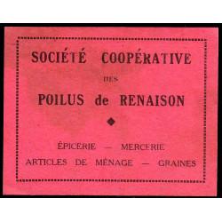 42 - Renaison - Société Coopérative des Poilus - 1 franc - Etat : TTB