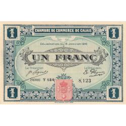 Calais - Pirot 36-25 - 1 franc - Série Y 124 - 14/01/1916 - Etat : SUP