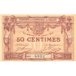 Calais - Pirot 36-28 - 50 centimes - Série A - 14/01/1916 (1917) - Etat : SUP