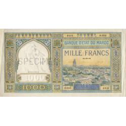 Maroc - Pick 16c_2s - 1'000 francs - Série 0.000 - Spécimen - Etat : SUP
