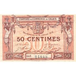 Calais - Pirot 36-28-Bb - 50 centimes - 1916 - Etat : TTB+