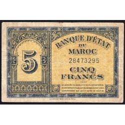 Maroc - Pick 24_2 - 5 francs - 1944 - Etat : TB