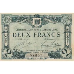 Angoulême - Pirot 9-18 - 2 francs - 1915 - Etat : SUP