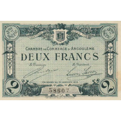 Angoulême - Pirot 9-18 - 2 francs - 3ème série - 15/01/1915 - Etat : SUP