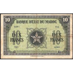 Maroc - Pick 25_1 - 10 francs - Série Q261 - 01/05/1943 - Etat : TTB-