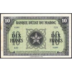 Maroc - Pick 25_1 - 10 francs - Série Y295 - 01/05/1943 - Etat : SUP+