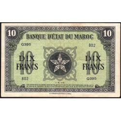 Maroc - Pick 25_1 - 10 francs - 01/05/1943 - Etat : TTB+