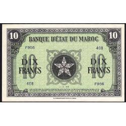 Maroc - Pick 25_3 - 10 francs - Série F956 - 01/03/1944 - Etat : SUP+