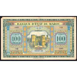 Maroc - Pick 27_2 - 100 francs - 01/08/1943 - Etat : TB+