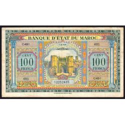 Maroc - Pick 27_3 - 100 francs - 01/03/1944 - Etat : TTB-