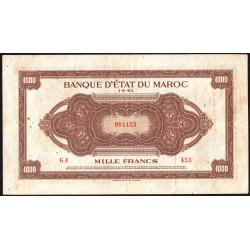 Maroc - Pick 28_1 - 1'000 francs - 1943 - Etat : TTB-