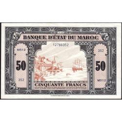 Maroc - Pick 26_2 - 50 francs - Série M512 - 01/03/1944 - Etat : SUP