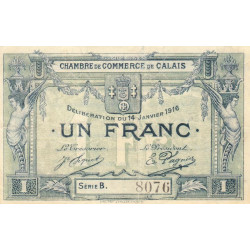 Calais - Pirot 36-30-Ba - 1 franc - Etat : TTB+