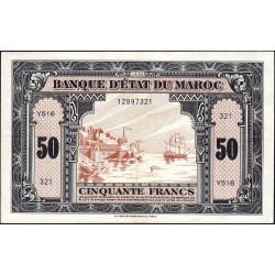 Maroc - Pick 26_2 - 50 francs - Série Y516 - 01/03/1944 - Etat : SUP
