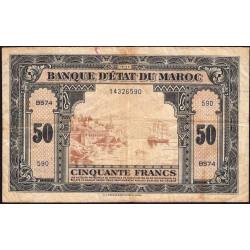 Maroc - Pick 26_2 - 50 francs - 01/03/1944 - Etat : TB-