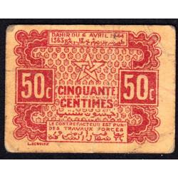 Maroc - Pick 41 - 50 centimes - 06/04/1944 - Etat : TTB
