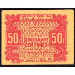 Maroc - Pick 41 - 50 centimes - 06/04/1944 - Etat : SUP+