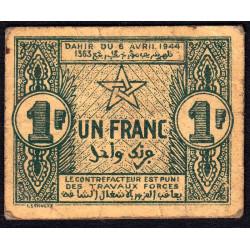 Maroc - Pick 42 - 1 franc - 06/04/1944 - Etat : TTB