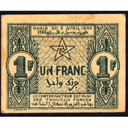 Maroc - Pick 42 - 1 franc - 06/04/1944 - Etat : SUP