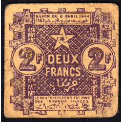 Maroc - Pick 43 - 2 francs - 06/04/1944 - Etat : TB