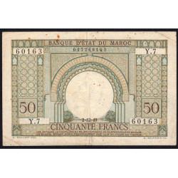 Maroc - Pick 44 - 50 francs - 02/12/1949 - Etat : TB