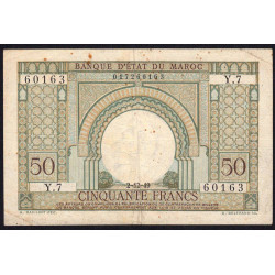Maroc - Pick 44 - 50 francs - 1949 - Etat : TB