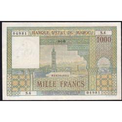 Maroc - Pick 47_1 - 1'000 francs - 1952 - Etat : TTB