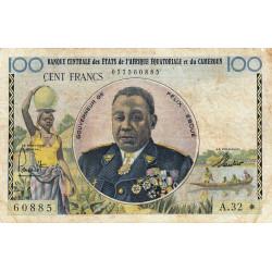 Cameroun - Afrique Equatoriale - Pick 1e - 100 francs - Série A.32 - 1961 - Etat : TB