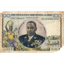 Cameroun - Afrique Equatoriale - Pick 2 - 100 francs - Série G.33 - 1961 - Etat : AB