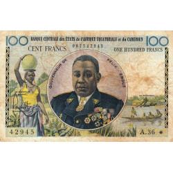 Cameroun - Afrique Equatoriale - Pick 2 - Série A.36 - 100 francs - 1961 - Etat : B+