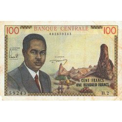 Cameroun - Pick 10 - Série B.2 - 100 francs - 1962 - Etat : TB