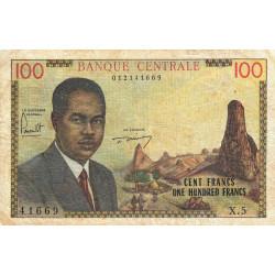 Cameroun - Pick 10 - 100 francs - Série X.5 - 1962 - Etat : TB-