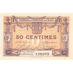 Calais - Pirot 36-33 - 50 centimes - Série A - Remplacement 5e émission (1919) - Etat : SPL