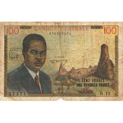 Cameroun - Pick 10 - 100 francs - Série R.11 - 1962 - Etat : AB à B-