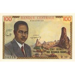 Cameroun - Pick 10 - 100 francs - Série R.20 - 1962 - Etat : SPL-