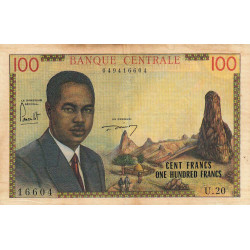 Cameroun - Pick 10 - Série U.20 - 100 francs - 1962 - Etat : TB