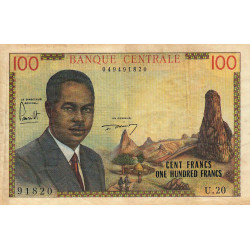 Cameroun - Pick 10 - 100 francs - 1962 - Etat : TB+