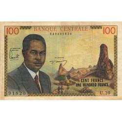Cameroun - Pick 10 - 100 francs - Série U.20 - 1962 - Etat : TB+