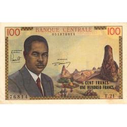 Cameroun - Pick 10 - 100 francs - Série T.21 - 1962 - Etat : SUP