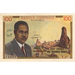 Cameroun - Pick 10 - 100 francs - Série T.21 - 1962 - Etat : TTB+