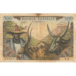 Cameroun - Pick 11_2 - 500 francs - Série F.9 - 1961 - Etat : TB