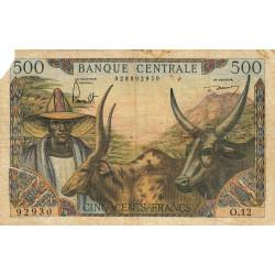 Cameroun - Pick 11_2 - 500 francs - Série O.12 - 1961 - Etat : AB