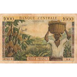 Cameroun - Pick 12a - 1'000 francs - Série A.9 - 1962 - Etat : TB-