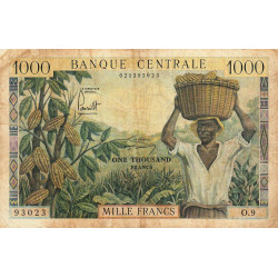 Cameroun - Pick 12a - 1'000 francs - Série O.9 - 1962 - Etat : TB-