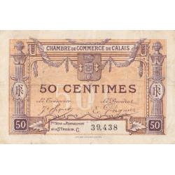 Calais - Pirot 36-33 - 50 centimes - Série C - Remplacement 5e émission (1919) - Etat : TB
