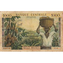Cameroun - Pick 12a - 1'000 francs - Série U.9 - 1962 - Etat : B+