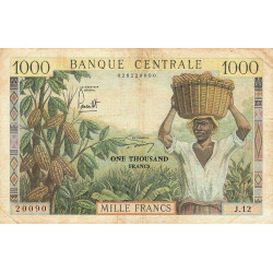Cameroun - Pick 12b - Série J.12 - 1'000 francs - 1962 - Etat : TB