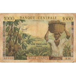 Cameroun - Pick 12b - Série Z.16 - 1'000 francs - 1962 - Etat : B+