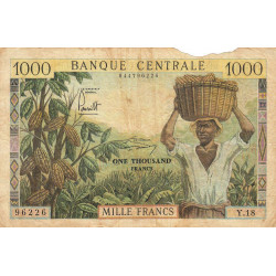 Cameroun - Pick 12b - 1'000 francs - Etat : AB à B-