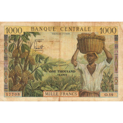 Cameroun - Pick 12b - 1'000 francs - Série O.19 - 1962 - Etat : B+